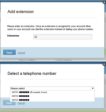 how to add an extension to a phone number
