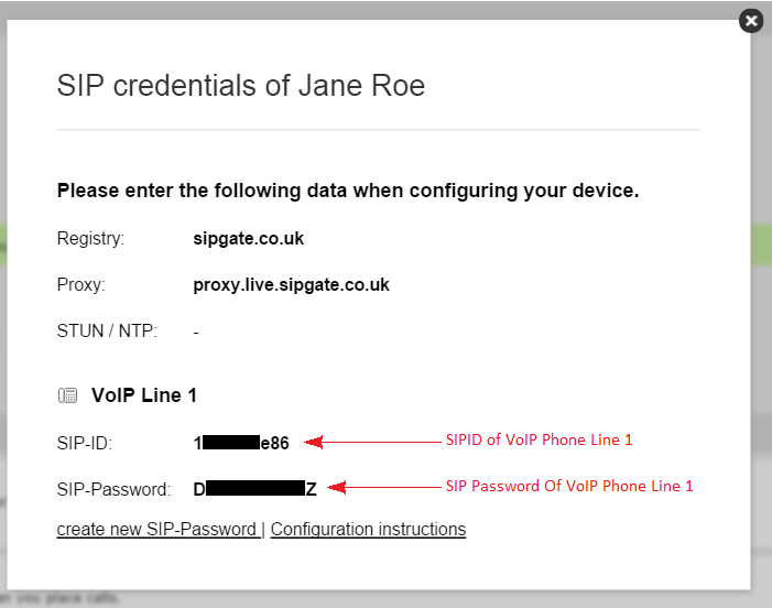 Where Are My SIP Credentials (SIP-ID and SIP Password