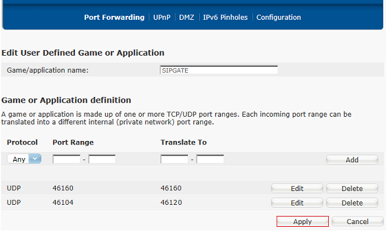 Port Forwarding: BT HomeHubs – sipgate team UK
