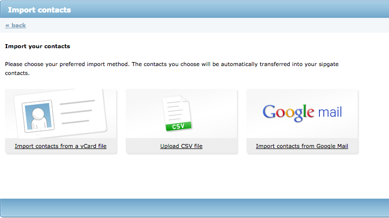 Importing Contacts from  CSV Files – sipgate team UK